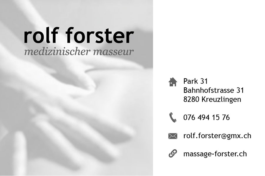 Business card – Rolf Forster