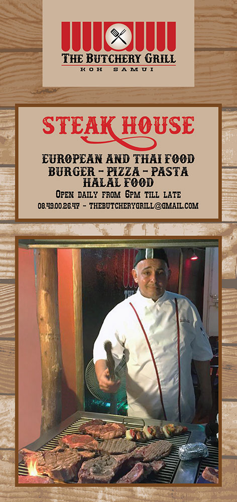 Flyer – The Butchery Grill