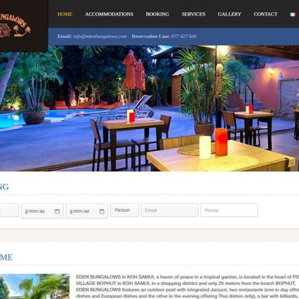 Website - Eden bungalows