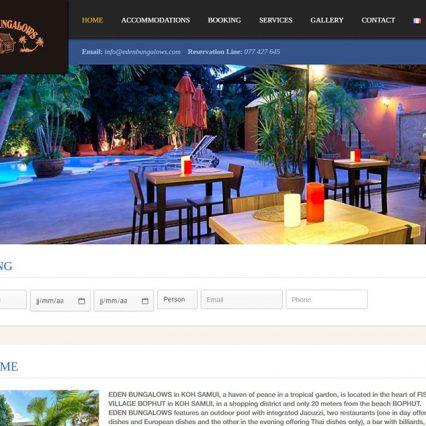 Website - Eden bungalows