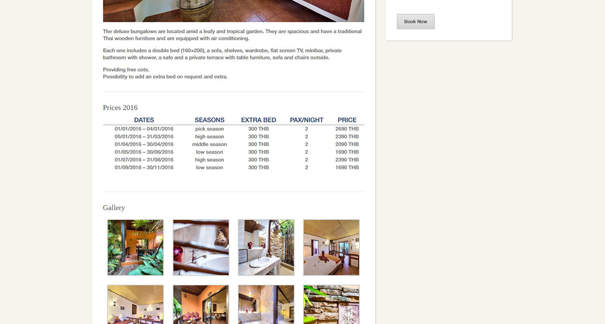 Website – Eden bungalows