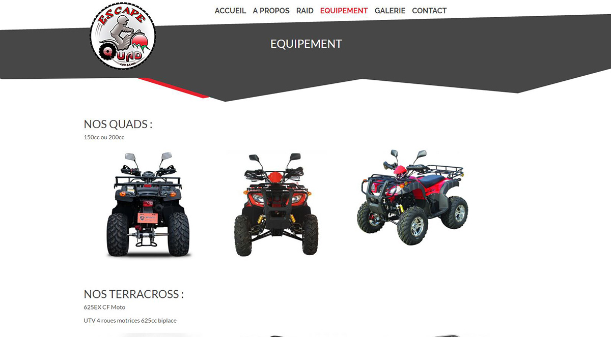Website – Escape Quad