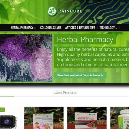 Website modifications - Raincure