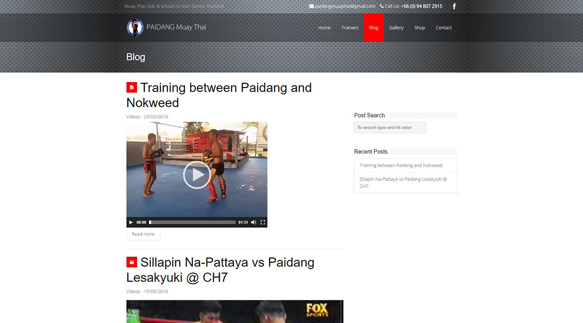 Website – Paidang Muay Thai