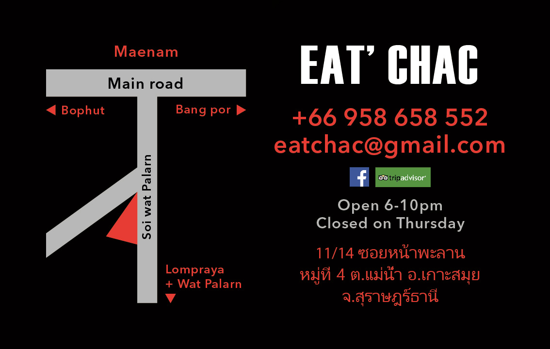 Business card – EAT' CHAC