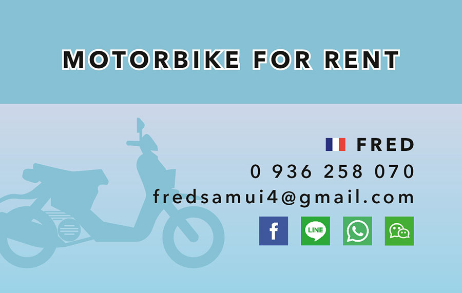 Business card – Fred Motorbike