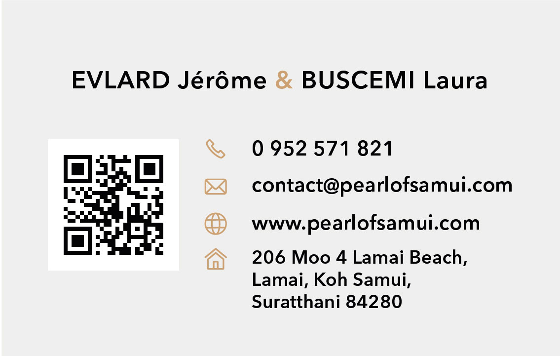 Business card – Pearl of Samui