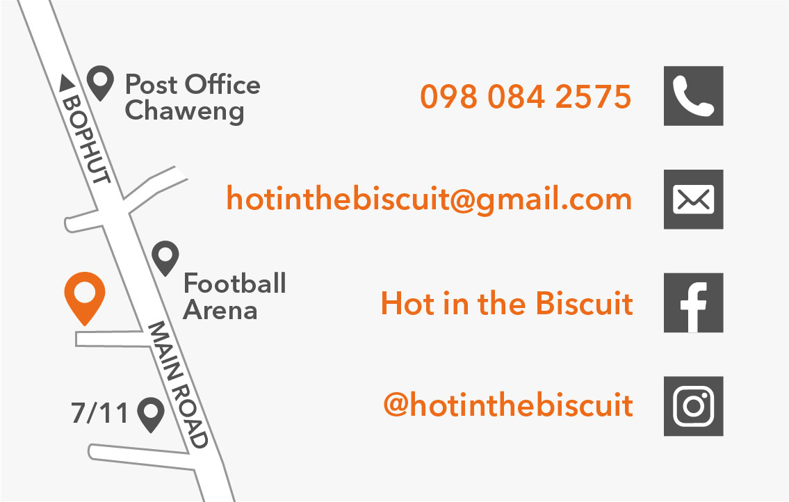 Business card – Hot in the Biscuit