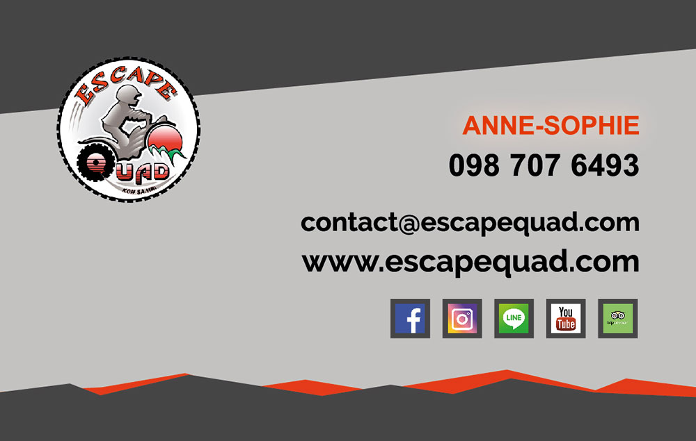 Business card – Escape Quad
