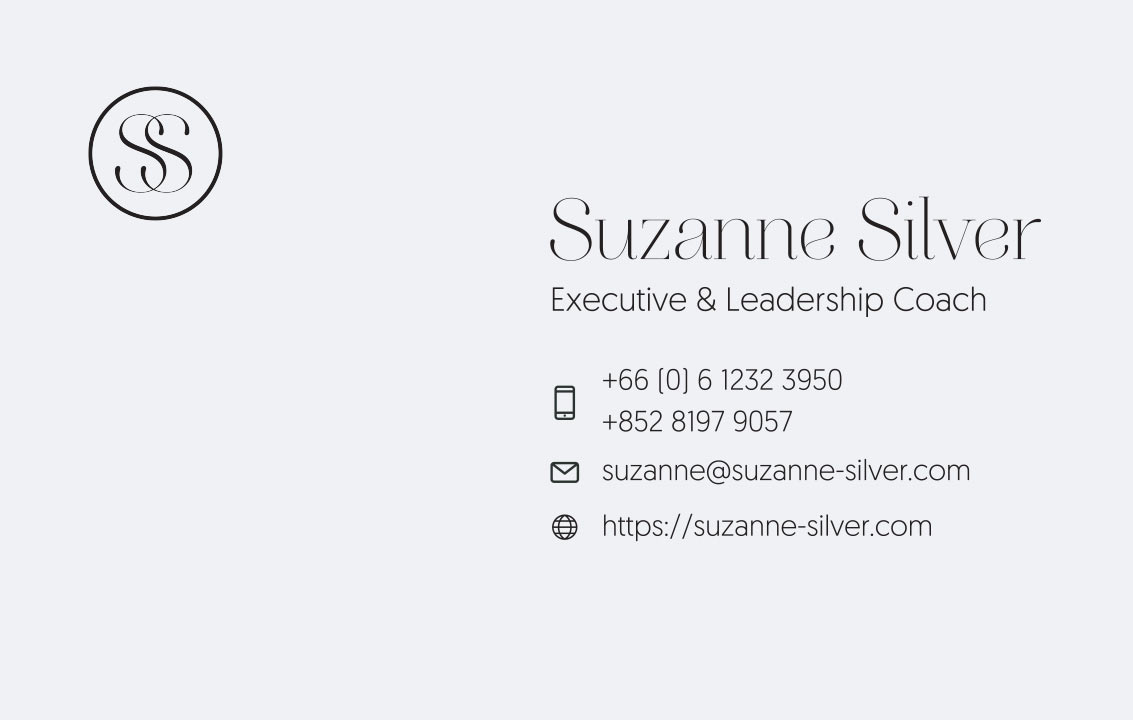Business card 1 – Suzanne Silver