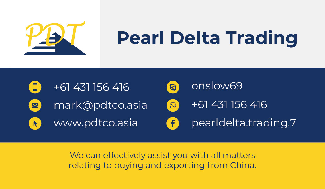 Business card – Pearl Delta Trading