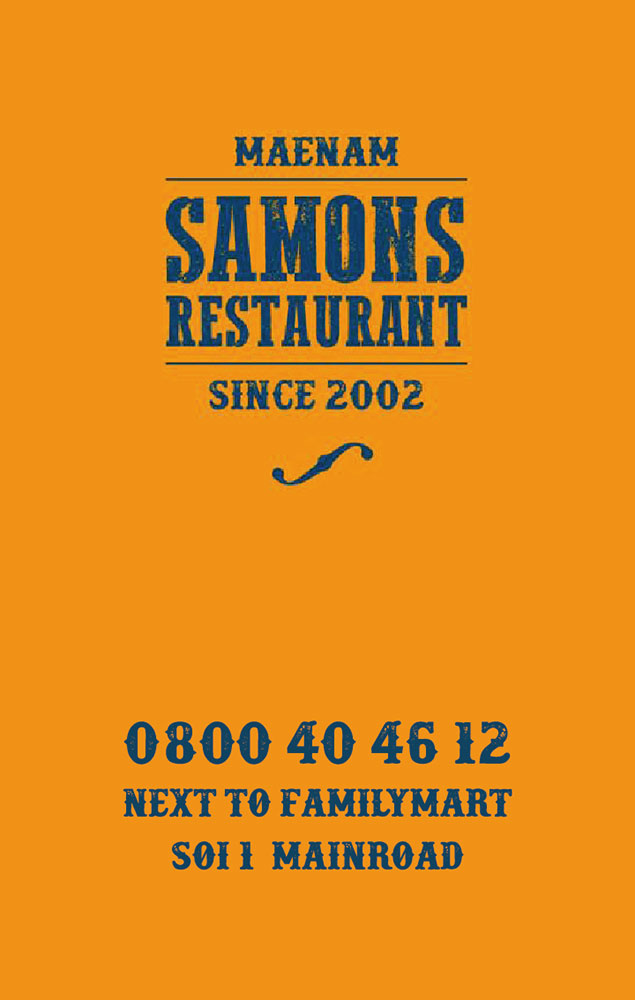 Business card – Samons Restaurant