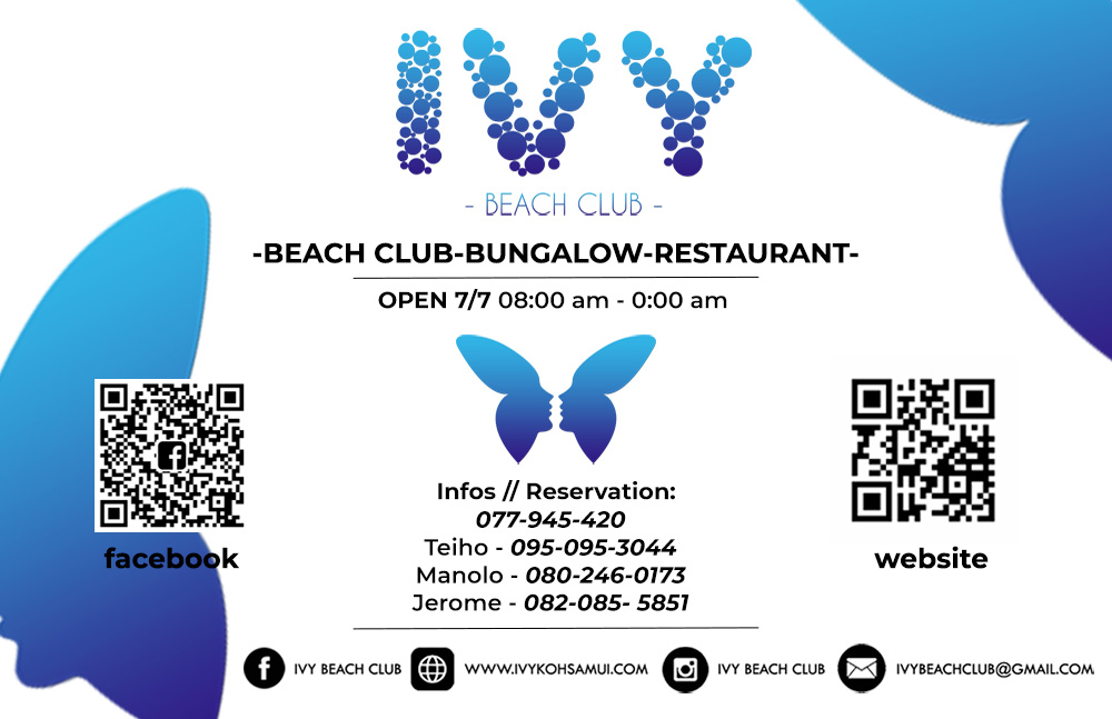 Business card – IVY Beach Club