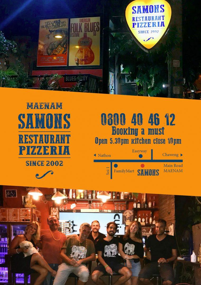 Flyer – Samons Restaurant
