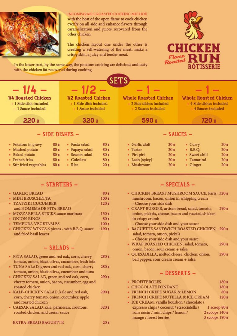Menu – Chicken Run