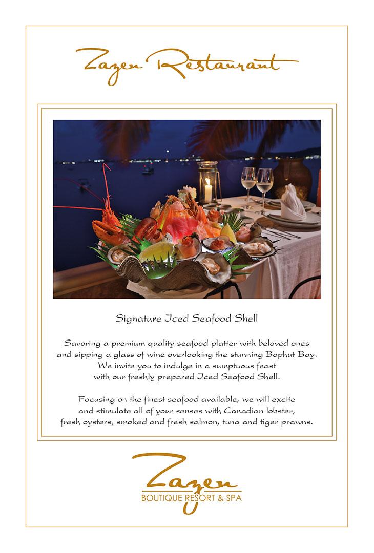 Seafood posters – Zazen Resort