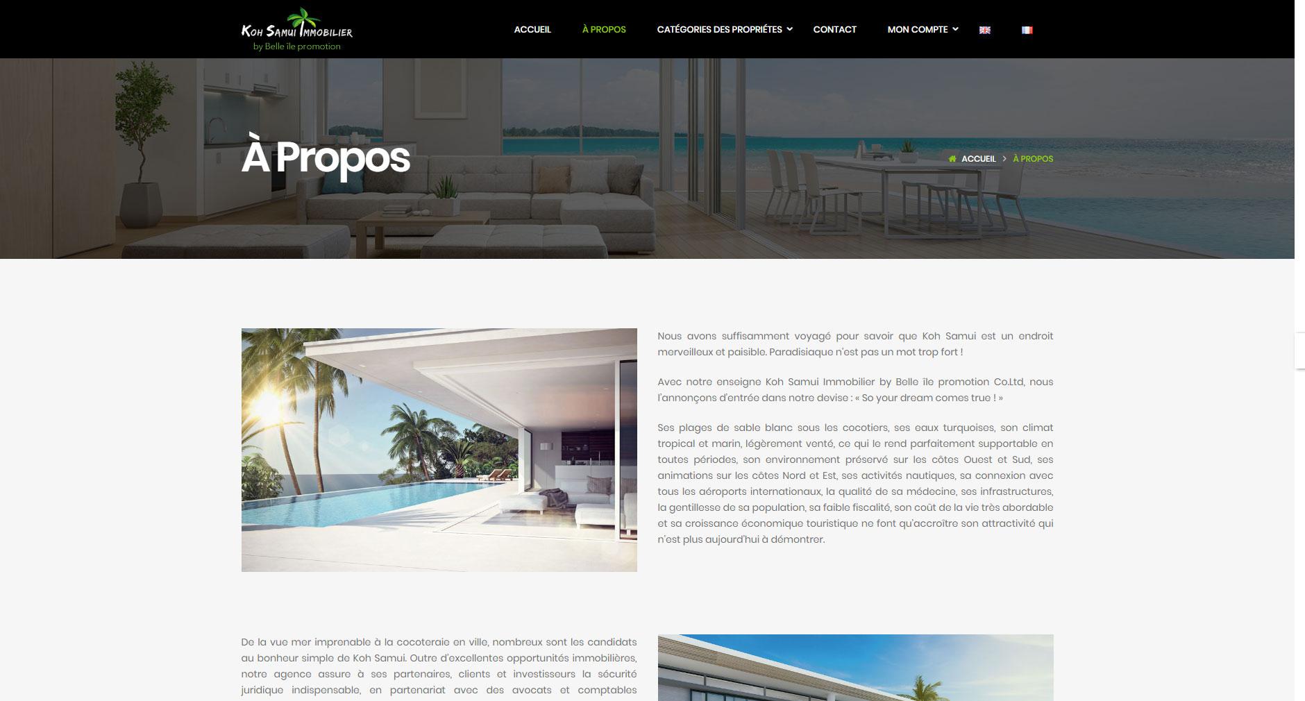 Website – Koh Samui Immobilier