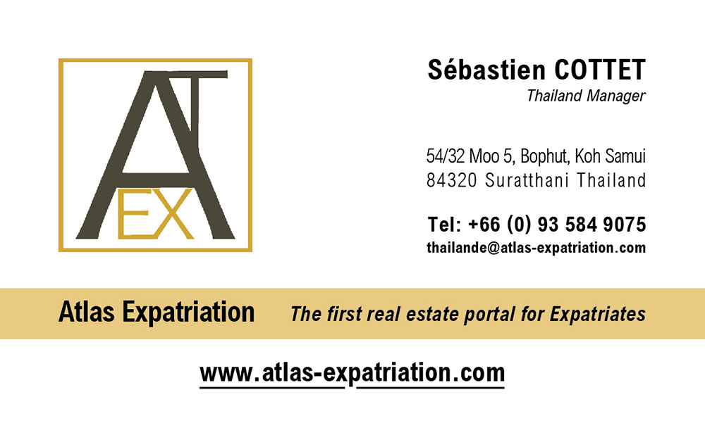 Business card – Atlas Expatriation