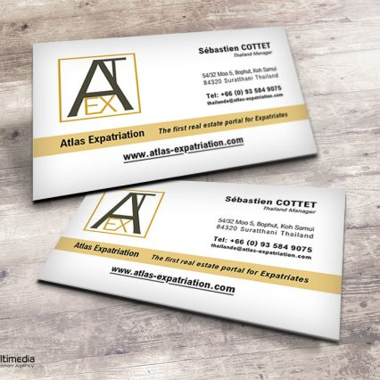 Business card - Atlas Expatriation