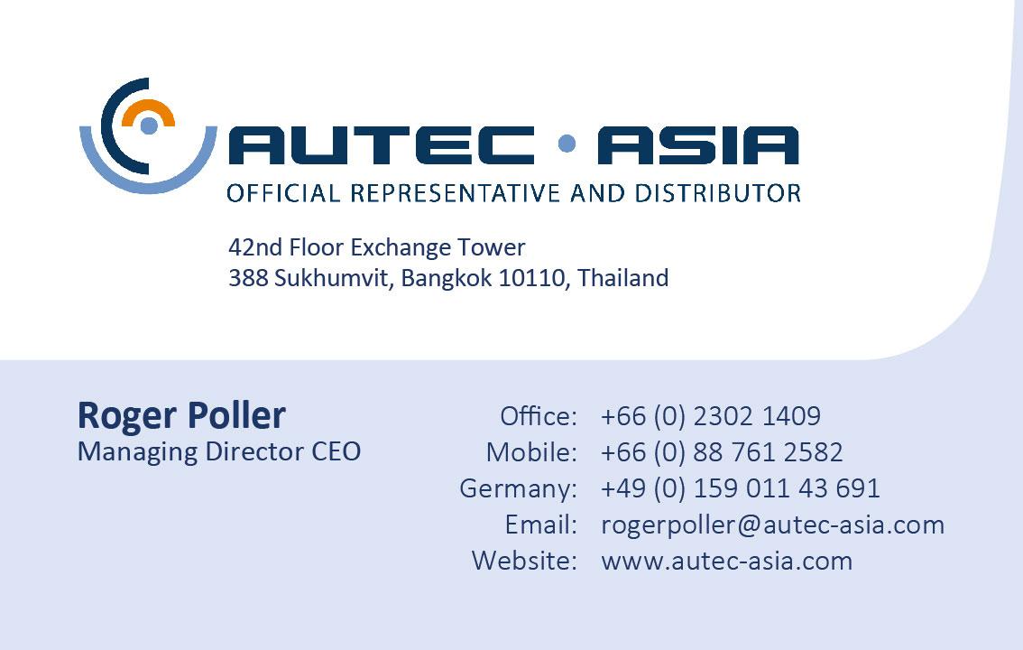 Business card – AUTEC Asia