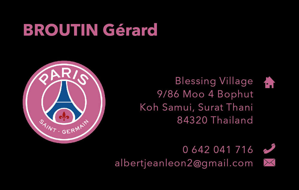 Business card – Gérard B.