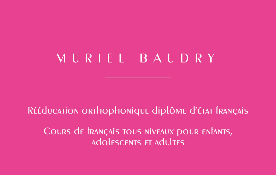 Business card – Muriel B.