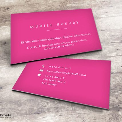 Business card - Muriel B.