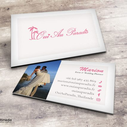 Business card - Oui au paradis
