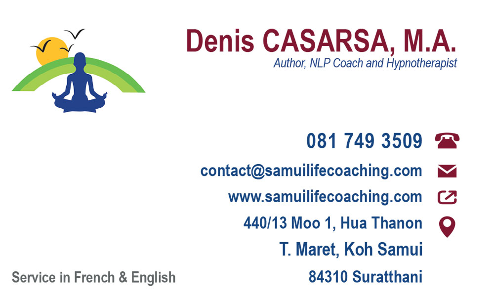Business card – Samui Life Coaching