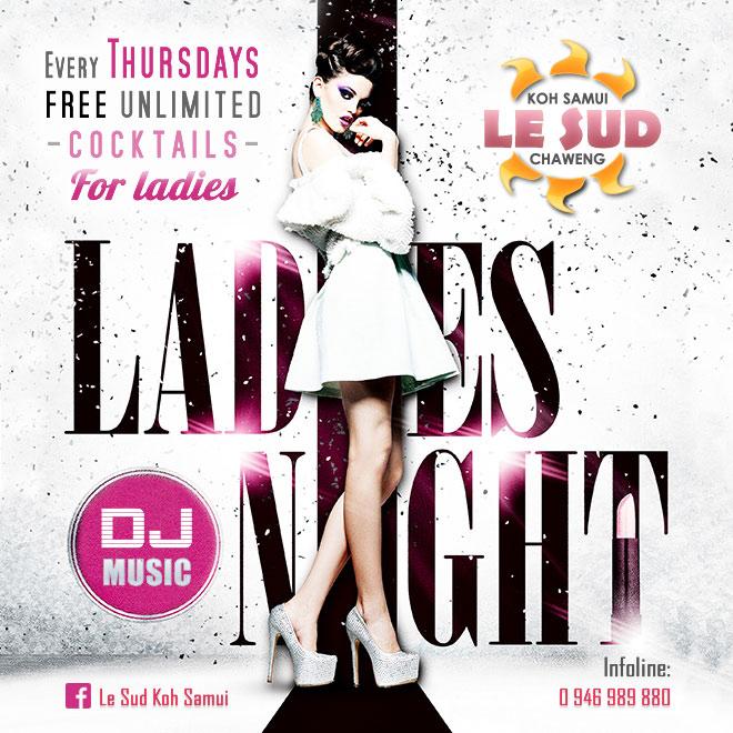 Flyer Ladies night - Le Sud
