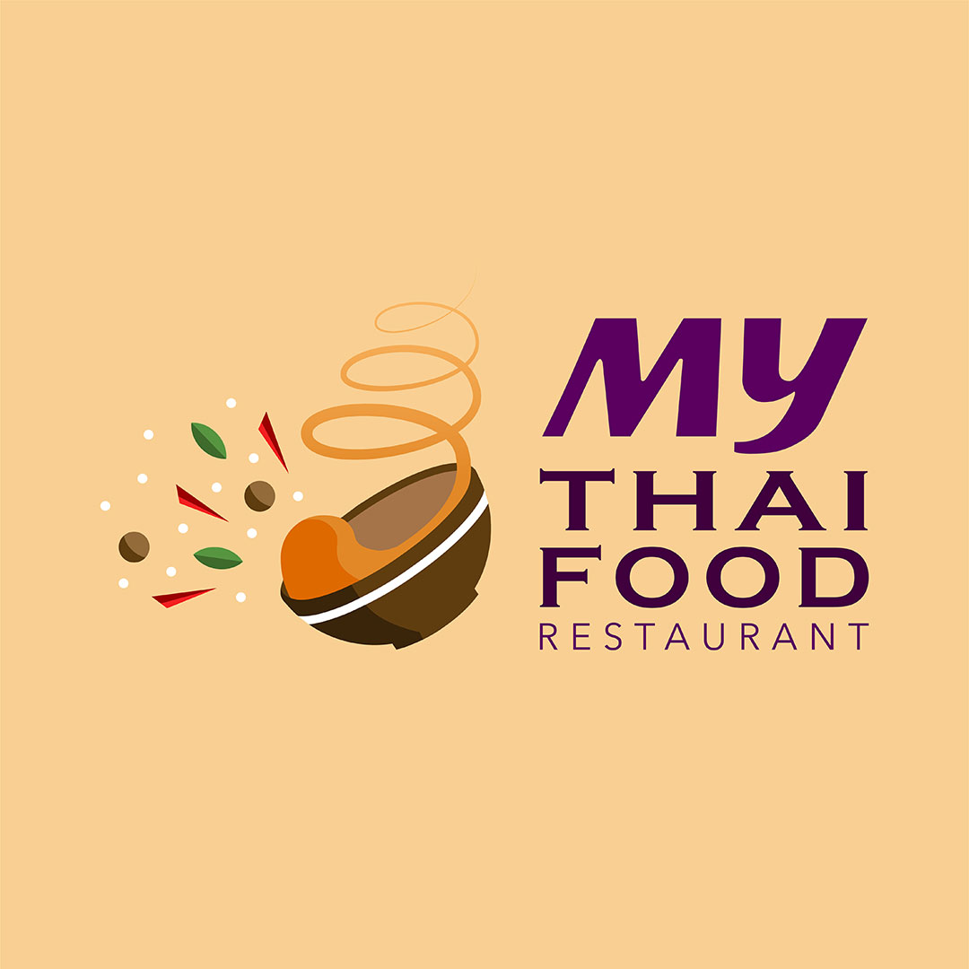 Projet Logo My Thai Food Restaurant Samui Multimedia
