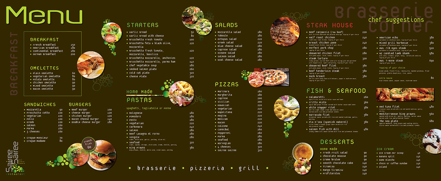 Menu V.3 - Sairee Sairee