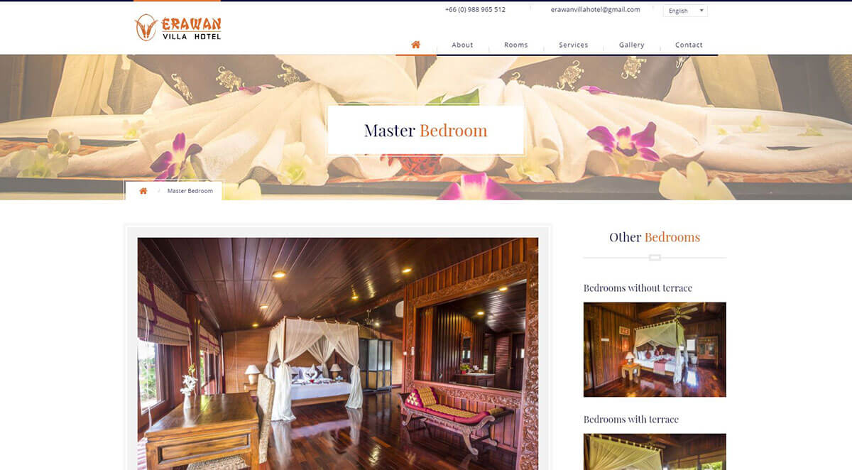 Website – Erawan Villa Hotel