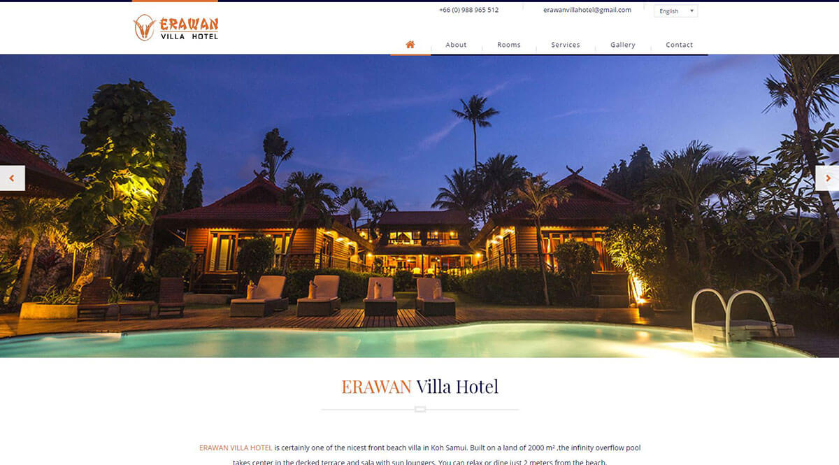 Website - Erawan Villa Hotel