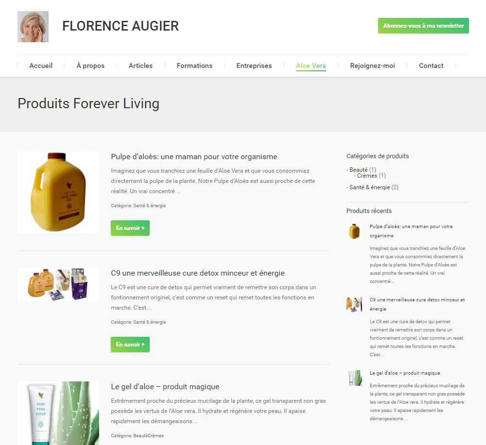 Website – Florence Augier