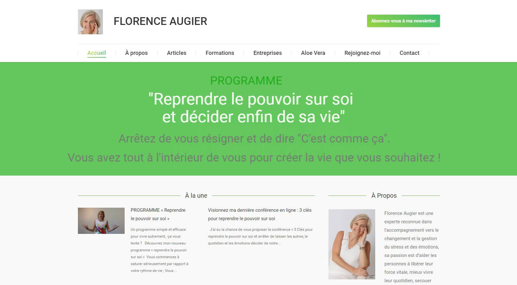 Website - Florence Augier