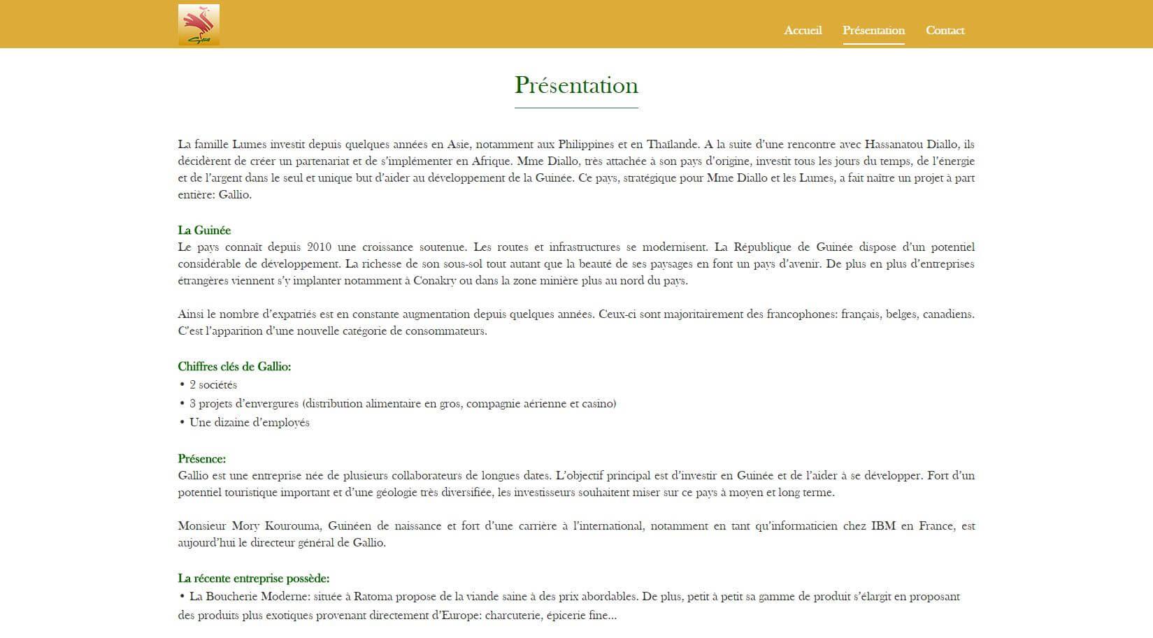 Website – Gallio