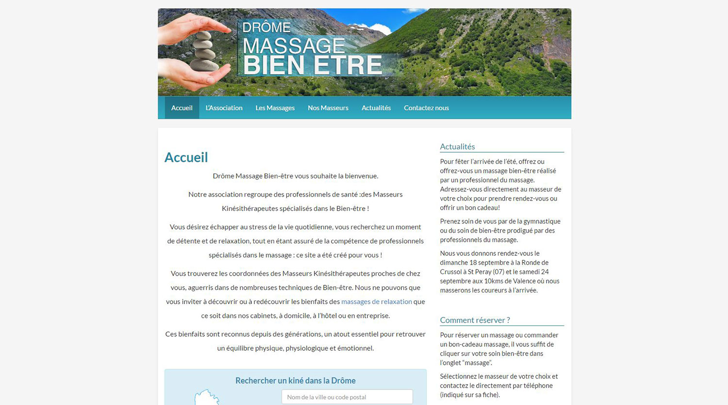 Website maintenance - Drôme Massage