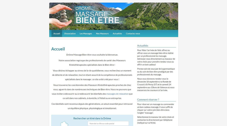 Website maintenance - Drôme Massage