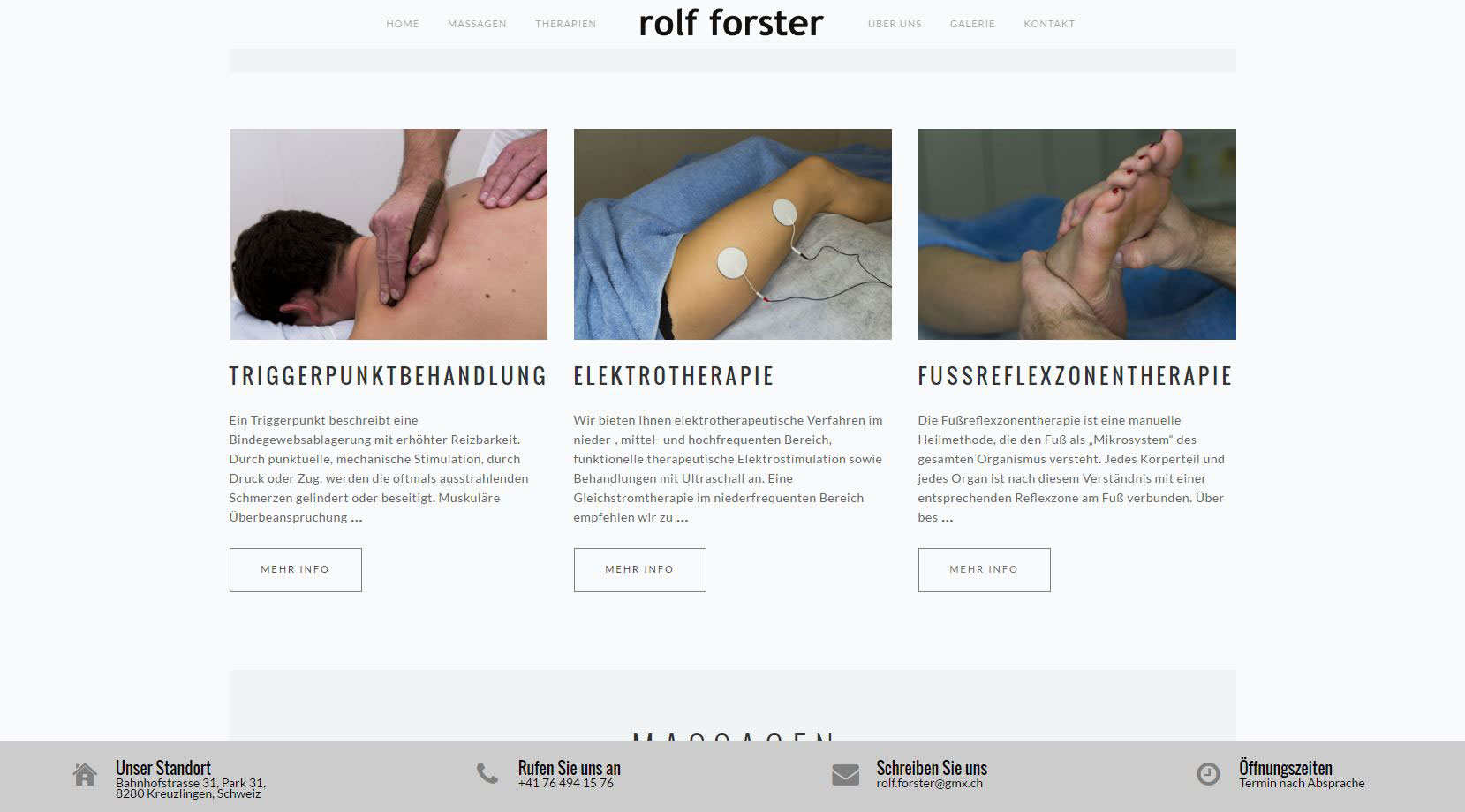 Website – Massage Forster