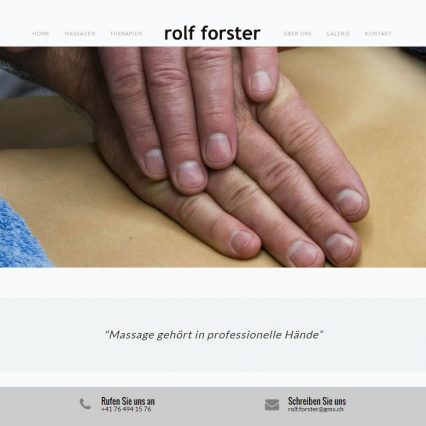 Website - Massage Forster