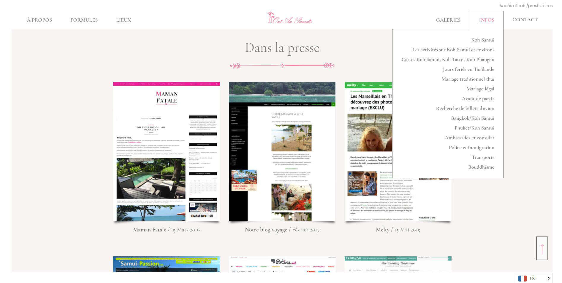 Website – Oui au paradis