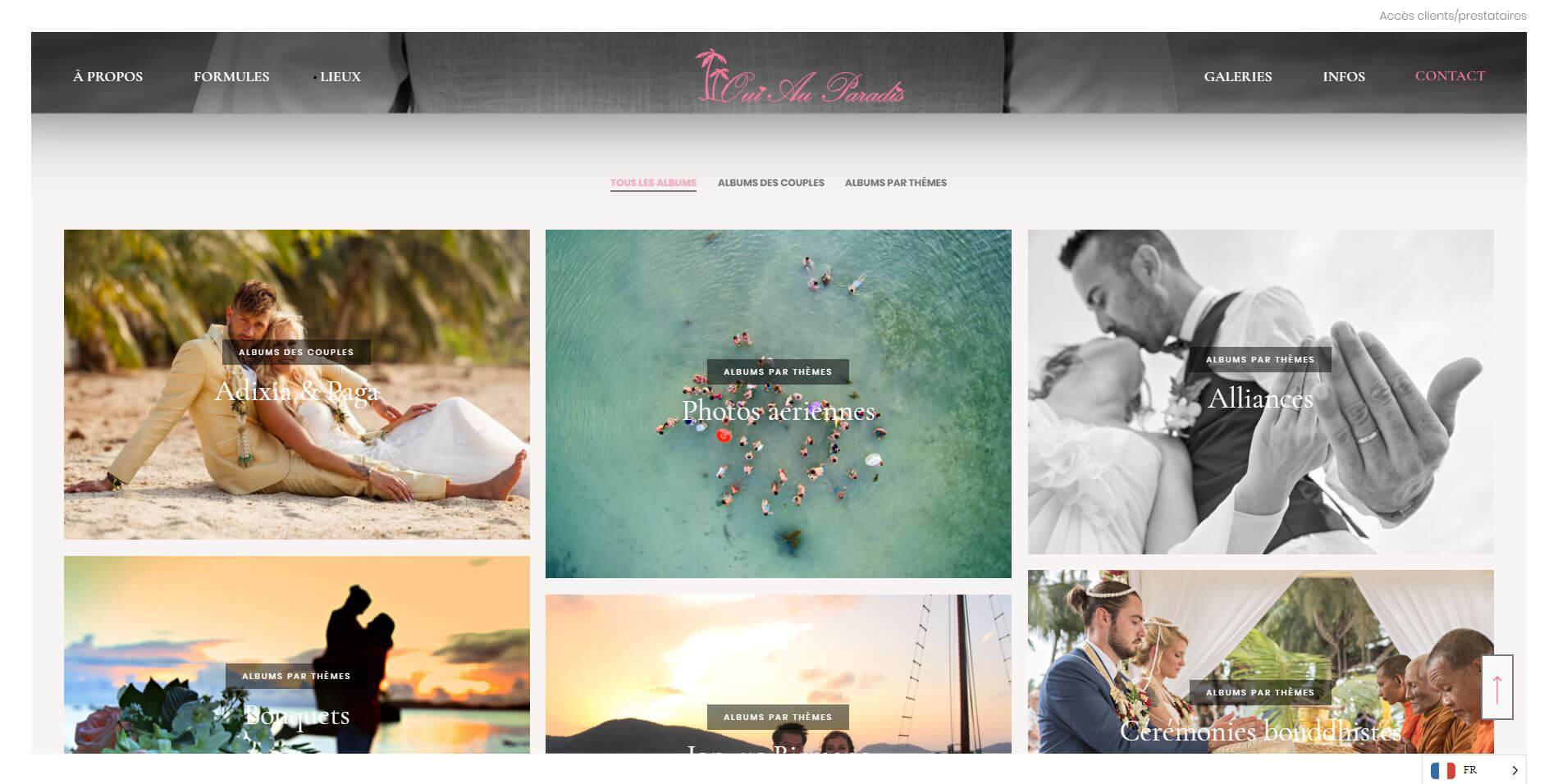 Website – Oui au paradis