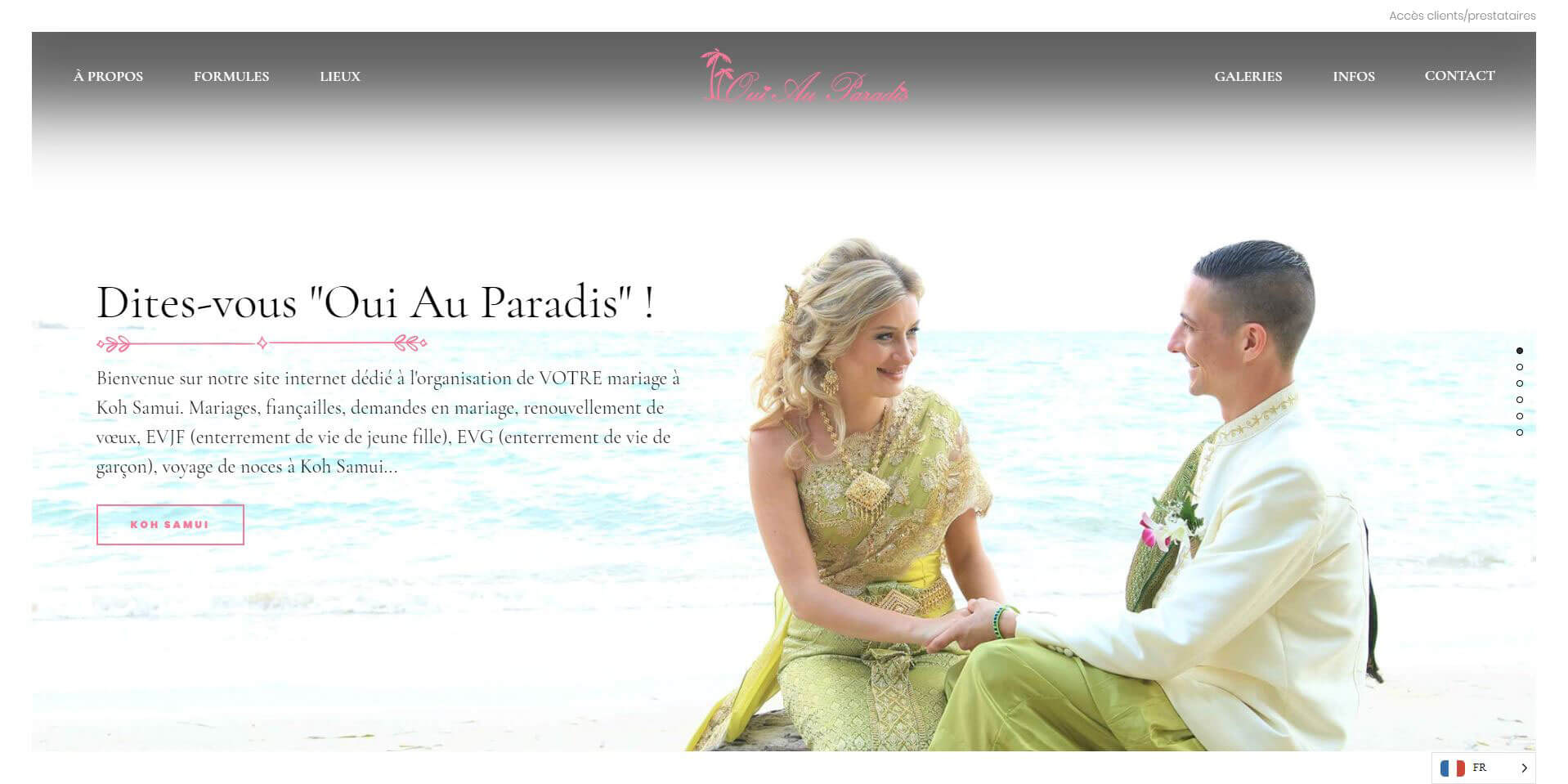 Website - Oui au paradis