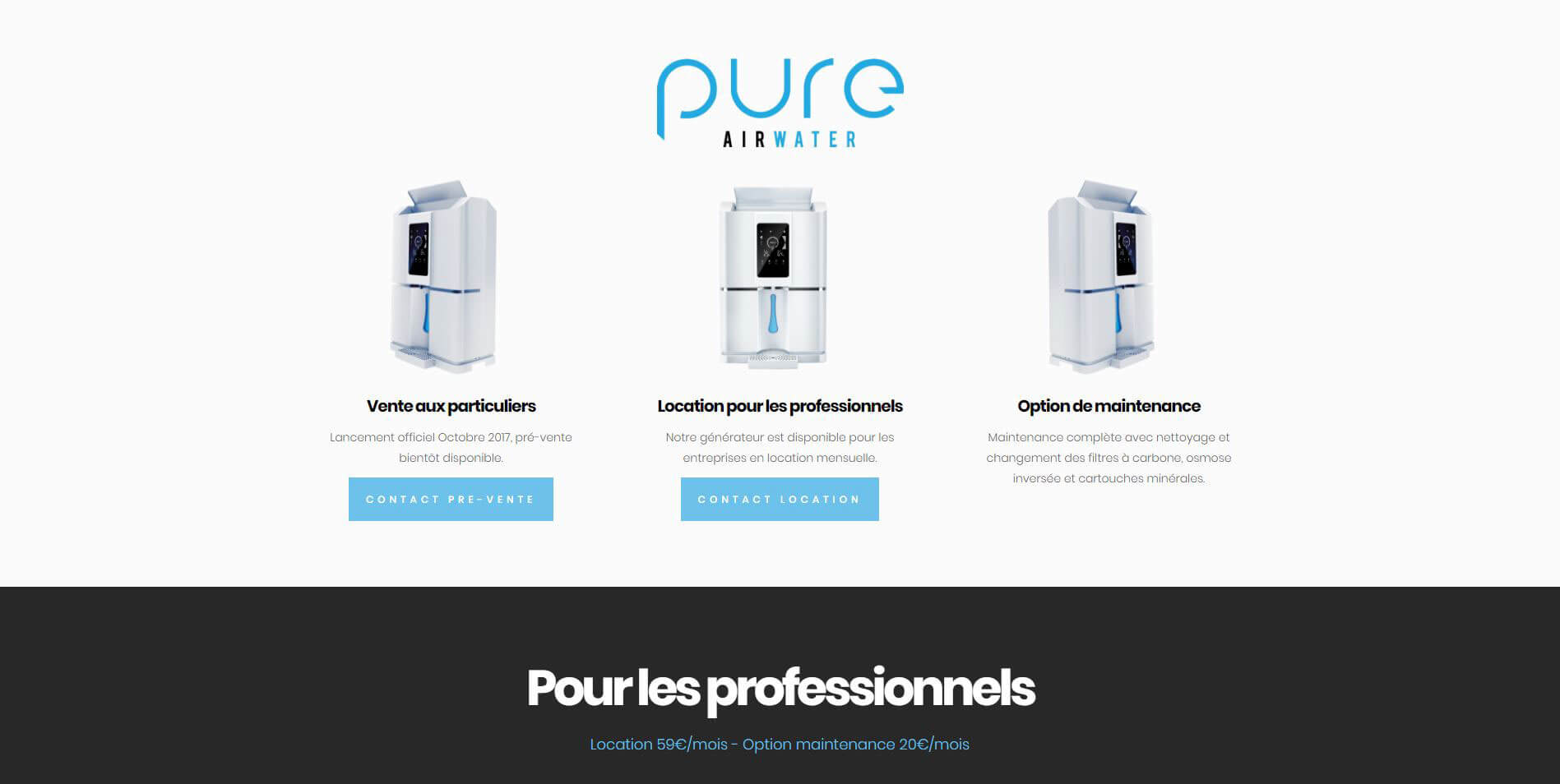 Website – Pure AirWater